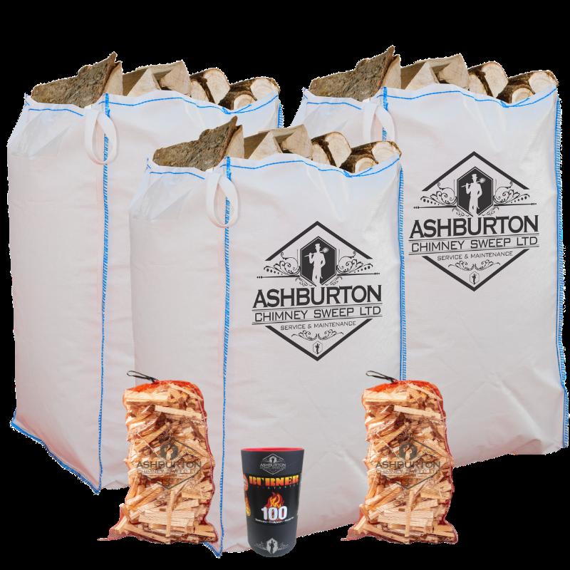 Kiln dried logs barrow bag bundle special offer